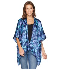 Collection Xiix Folk Floral Ruana Navy Clothing