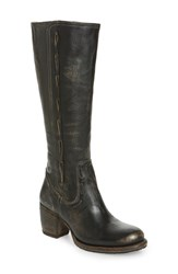 Bed Stu Fate Knee High Boot Black Hand Wash