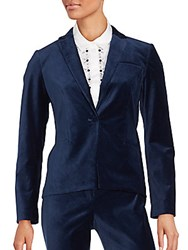 Laundry By Shelli Segal Long Sleeve Notch Lapel Jacket Dynasty Blue