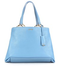 Miu Miu Leather Shopper Blue