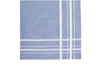 Simonnot Godard Men's Striped Cotton Handkerchief Blue