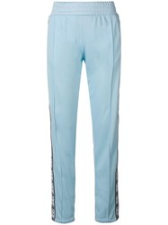 Chiara Ferragni Embroidered Track Pants Blue