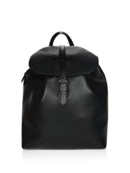 Dunhill Boston Leather Backpack Black