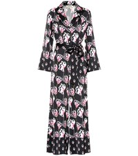 Temperley London Dragonfly Printed Satin Jumpsuit Multicoloured