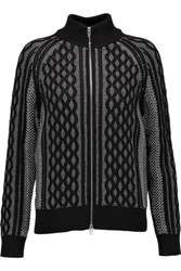 Alexander Wang T By Cable Knit Cardigan Gray