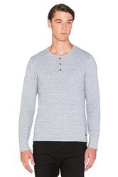 Scotch And Soda Longsleeve Crinkled Bonded Tee Gray
