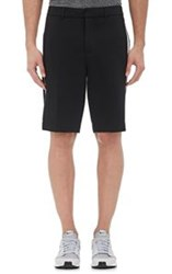 Atm Anthony Thomas Melillo Side Striped Neoprene Shorts Black