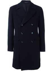 Tagliatore Double Breasted Coat Blue