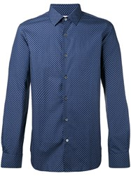 Paul Smith Dot Print Shirt Blue