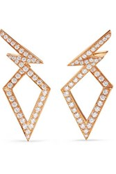 Stephen Webster Lady Stardust 18 Karat Rose Gold Diamond Earrings