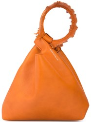 Elena Ghisellini Top Handle Mini Bag Orange