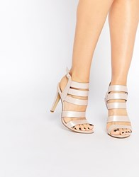 London Rebel Strappy Heeled Sandals Pink