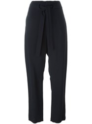 Chloe Cropped Trousers Blue