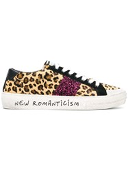 Moa Master Of Arts Leopard Print Sneakers Brown