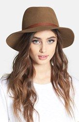 Rag And Bone Women's Floppy Brim Felted Wool Fedora Brown Pecan