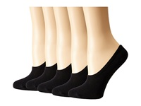 Steve Madden 5 Pack Black Mesh Footie Black Women's No Show Socks Shoes