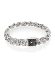 John Hardy Classic Chain Black Sapphire And Sterling Silver Large Bracelet Silver Black