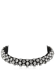 Isabel Marant Crystal And Leather Necklace Black