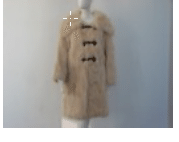 Helen Yarmak Reversible Fox Coat With Long Sleeves Big Collarand Decorative Closure. Detachable Hy Exclusive 100 Silk Lining. Fur Origin Finland Neutral