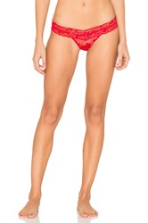 Hanky Panky Sweetheart Mesh Low Rise Thong Red