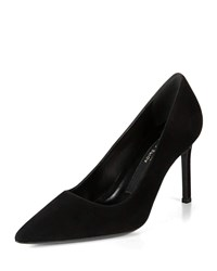 Via Spiga Nikole Suede Point Toe Pumps Black