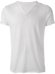 Zadig And Voltaire Printed Button Neck T Shirt