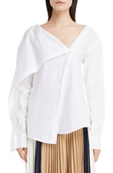 Victoria Beckham Women's Asymmetrical Cotton Shirt