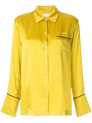 Asceno Piped Blouse Yellow And Orange