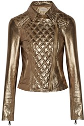 Temperley London Metallic Leather Biker Jacket