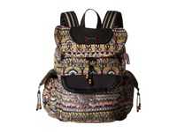 Sakroots Artist Circle Flap Backpack Taupe One World Backpack Bags