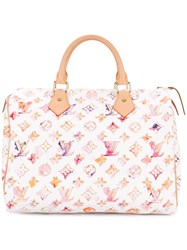 Louis Vuitton Vintage Speedy 30 Monogram Tote White