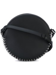 Paco Rabanne Circular Shoulder Bag Women Leather One Size Black