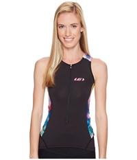 Louis Garneau Pro Carbon Sleeveless Tri Top Expressionist Women's Sleeveless Blue