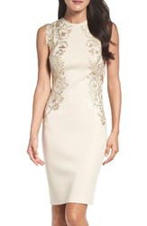 Tadashi Shoji Women's Sequin Applique Neoprene Sheath Dress