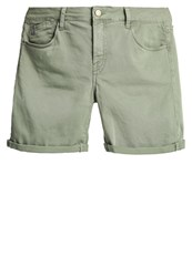 Le Temps Des Cerises Denim Shorts Sea Spray Khaki