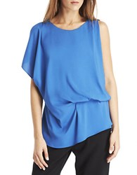 Kenneth Cole Brandon Blouse Light Blue