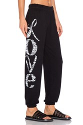 Lauren Moshi Tanzy Happy Love Leg Sweatpant Black