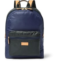 Paul Smith Leather Trimmed Two Tone Shell Backpack Navy