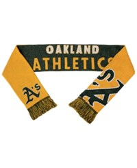 Forever Collectibles Oakland Athletics Reversible Split Logo Scarf Green