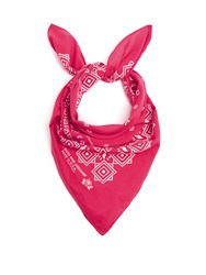 Bliss And Mischief Bamdana Cotton Scarf Dark Pink