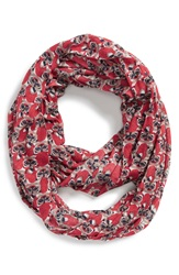 Sole Society Raccoon Print Infinity Scarf Multi
