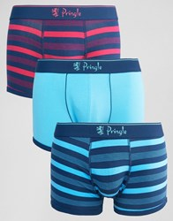 Pringle 3 Pack Trunks In Multi Stripe Multi