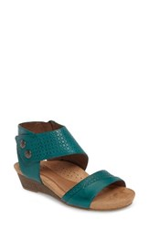 Rockport Cobb Hill Women's Hollywood Sandal Teal Leather