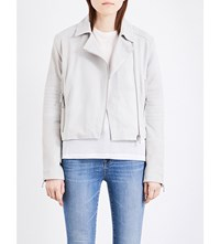 J Brand Fashion Aiah Leather Jacket Clay