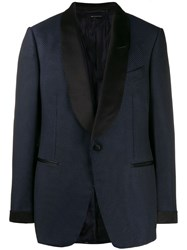 Tom Ford Single Breasted Blazer Blue