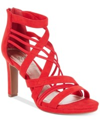 Impo Temple Stretch Platform Dress Sandals Women's Shoes Red