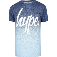 Hype Blue Speckle Print T Shirt