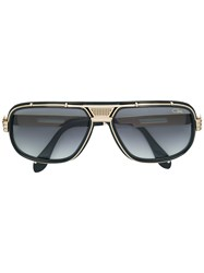 Cazal Mixed Metal And Acetate Sunglasses Black