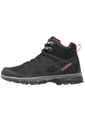 Kangaroos Ku Walking Boots Black Magenta