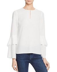Cooper And Ella Agatha Tiered Sleeve Blouse White